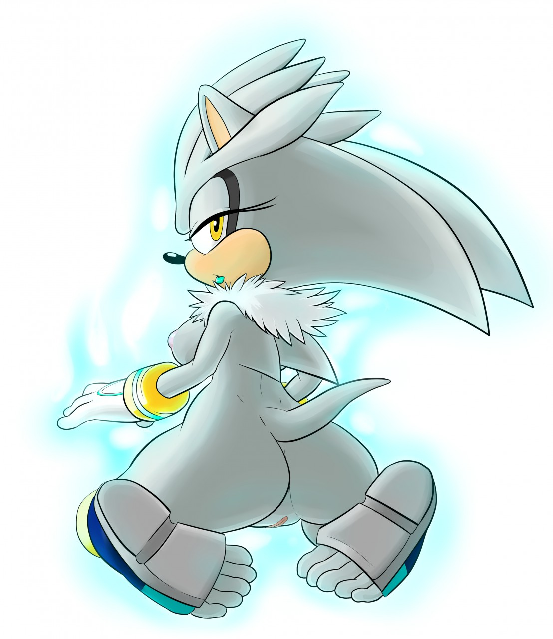 as the human a silver hedgehog My little pony rainbow dash and soarin